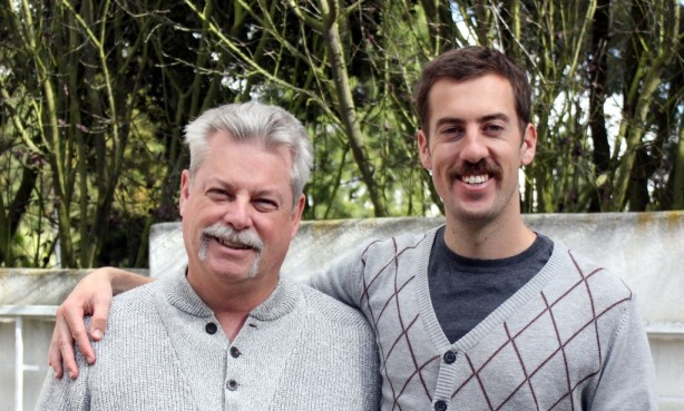 We learned where I get my great mustache from, and that Courtney is not a big fan of it.